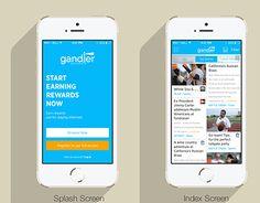 "Check out new work on my @Behance portfolio: ""Gander - News App""…"