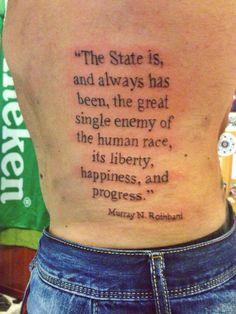 Murray Rothbard's quote.