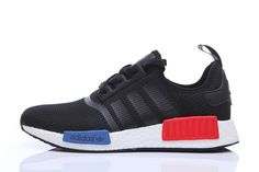 NMD RUNNER BLACK RED BLUE Men Women Only  55 Adidas Shoes Nmd 0182961ce0
