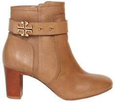 TORY BURCH 70mm Elina Textured Logo Boots - Lyst