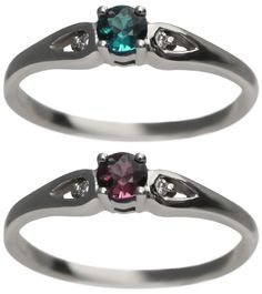 Small Natural Alexandrite Ring 0.18 Carats . Love the super petite style.