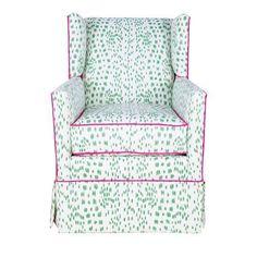 Braeton Accent Chair - Les Touches Designer Fabric - Society Social - $1,900 - domino.com
