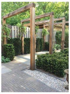 Outdoor Pergola, Diy Garden, Backyard Pergola, Outdoor Landscaping, Outdoor Gardens, Wooden Pergola, Cheap Pergola, Outdoor Seating, Garden Kids