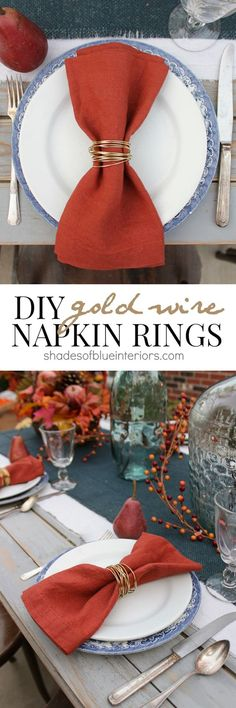 DIY Gold Wire Napkin Rings
