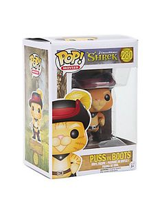 Funko Shrek Pop! Movies Puss In Boots Vinyl Figure,