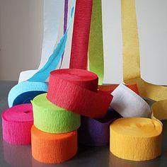 Paper Crepe Streamers - bunting & garlands