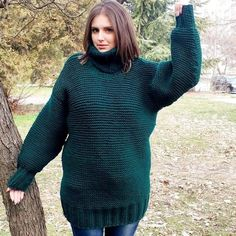 Thick Sweaters, Cool Sweaters, Winter Sweaters, Mohair Yarn, Mohair Sweater, Ladies Poncho, Cowl Neck Dress, Yarn Sizes, Knitted Poncho
