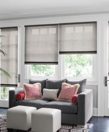Inspiration Gallery - Smith & Noble - sheer and natural roller shade.  want tope down bottom up option with thin valence.