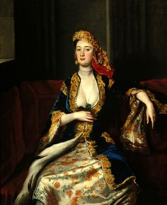 Mrs. Thomas Pelham  by Joseph Highmore, 1720s, Turkish influence in clothing