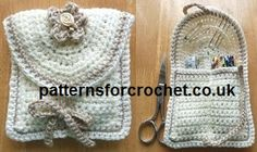 Free crochet pattern for handy sewing kit from http://www.patternsforcrochet.co.uk/a-handy-sewing-kit-usa.html