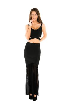 4edf0aa43dc Naughty Grl Two Piece Bandage Dress - Black