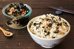 How can you turn a bowl of plain rice into a savory, satisfying meal? Sprinkle on furikake.