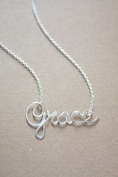 Tiny Name Necklace Sterling Silver Personalized Name Necklace