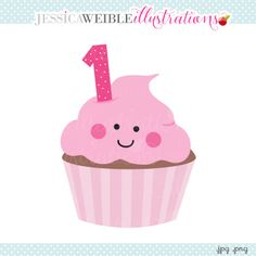 First Cupcake Clipart - JW illustrations