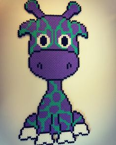 Giraffe hama beads by krea_mor_sophia - Pattern: https://de.pinterest.com/pin/374291419013031076/
