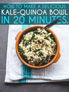 Grünkohl-Quinoa Bowl