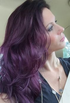 Riley Salon Atlanta, GA Eggplant hair #purplehair #kjc #katherineclayton #quinn_the_pit