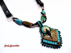 Southwest Jewelry Turquoise Jewelry Chunky Necklace by RedBear501