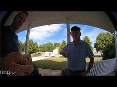 """Surprised mailman is introduced to the Ring Video Doorbell for the very first time!""  - Michael (Marion, Ohio)"