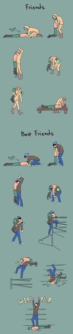 Friends VS Best Friends by azngirlLH http://ibeebz.com