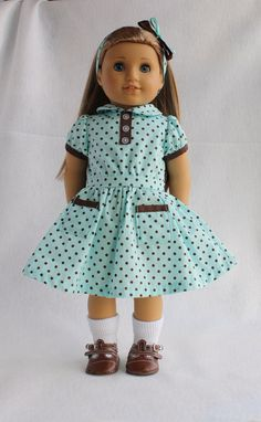 1930's Style Dress Made to fit American Girl or 18 Inch Dolls