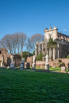House of Vestal Virgins, Roman Forum, Rome Italy