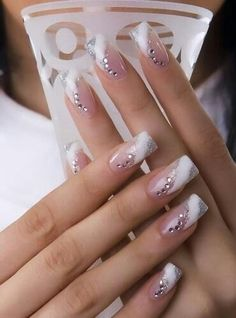 Check Out 25 Best Manicure Nail Art Ideas. Since the nail art as come a long way. It includes an airbrushing machine designed to perform manicure nail art. Manicure Nail Designs, French Manicure Nails, Fingernail Designs, Acrylic Nail Designs, Nail Art Designs, Gel Nails, Acrylic Nails, Nail Polish, Manicure Ideas