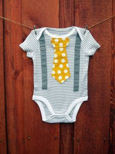 NEW Baby Boy Tie Onesie and Suspender Bodysuit by shopantsypants, $19.00