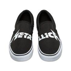 Vans Metallica Slip-On Black/True White - coreshop.hu