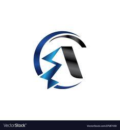 Logo modern flash with type a vector image on VectorStock Vector Design, Graphic Design, Modern Logo, Adobe Illustrator, Vector Free, Pdf, Type, Logos, Illustration