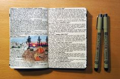 Art journal, a/k/a Junk Journal; words, impressions, images, poetry, scribbles, expressions of the day.