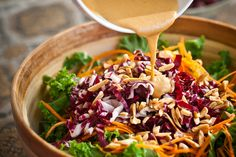 Stronger Together: Kale Salad with Ginger Miso Dressing