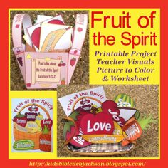 Fruit of the Spirit printables with teacher's visuals and basket with fruit & more!