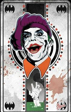 Joker Card, Jack Nicholson - 1989 Batman