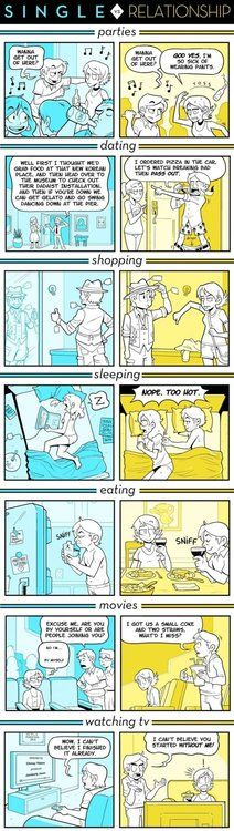 DIFFERENCES BETWEEN BEING SINGLE AND BEING IN A RELATIONSHIP