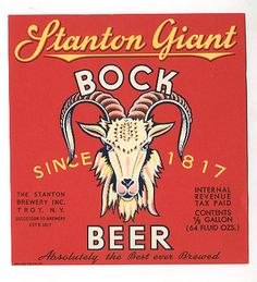 vintage, beer, label