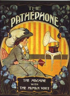The Pathephone phonograph vintage advertising
