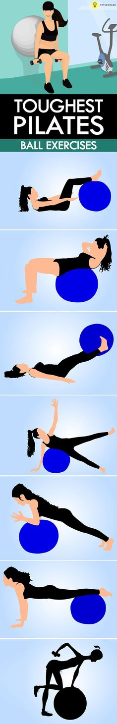 nice 10 Best Pilates Ball Exercises To Stay Fit...