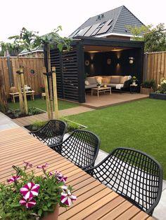 Back Garden Design, Small Backyard Design, Backyard Patio Designs, Small Backyard Landscaping, Backyard Ideas, Backyard Pools, Back Garden Ideas, Urban Garden Design, Outdoor Ideas