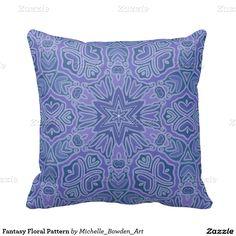 Fantasy Floral Pattern Pillows