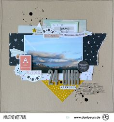 """Scrapbooking mit dem Septemberkit """"Tagträumer""""   von Nadine Westphal für www.danipeuss.de #danipeuss #scrapbookinglayout #scrapbooking"""