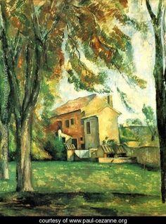 paul cezanne most famous works | ... of the Jas de Bouffan at winter - Paul Cezanne - www.paul-cezanne.org