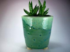 Ceramic Planter  Handmade Stoneware Pottery by JulieKnowlesPottery, $26.00