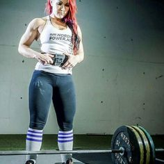 """The beautiful @lindakpowerlifter checking in for #powerliftingthickthighthursday . Follow this powerlifting beauty  """