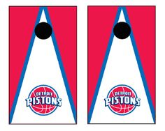 Detroit Pistons Cornhole Boards
