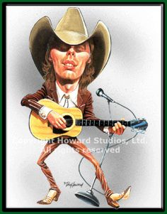 country music caricatures | dwight yoakam caricature dwight yoakam cartoon caricature limited ...