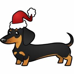 Christmas Dachshund Ornament (smooth coat) Photo Cut Out