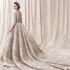 Krikor Jabotian's 2018 bridal collection pairs meticulously constructed silhouettes with exquisite embellishments for looks that are unconventional and truly unforgettable. The collection