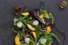 jessica cox | lychee, nectarine and mint summer salad jessica cox