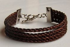 DIY Cord Bracelet - This is an easy Christmas jewelry craft. Give one as a gift! #tutorial